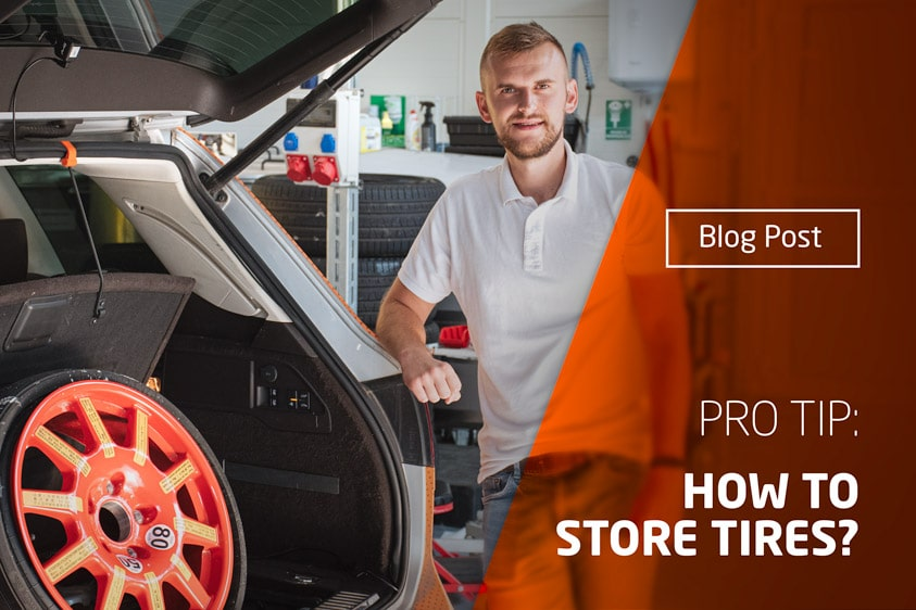 How to store a car tire